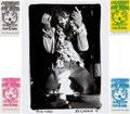 Music Memorabilia:Autographs and Signed Items, Jimi Hendrix Limited Edition Monterey Pop Photo with Tickets....(Total: 5 Items)