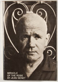 Books:First Editions, Jean Genet. Miracle of the Rose. New York: Grove Press,[1966]. First American edition, first printing. Octavo. Publ...