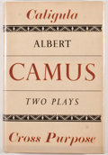 Books:First Editions, Albert Camus. Caligula and Cross Purpose. [New York]: NewDirections, [1947]. First edition. Octavo. Publisher's bin...