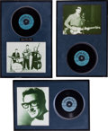 Music Memorabilia:Recordings, Buddy Holly Blue Label Promo Display Group (Coral, 1958-60).... (Total: 3 )