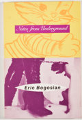 Books:Signed Editions, Eric Bogosian. SIGNED. Notes From Underground. New York: Hyperion, [1993]. First edition, first printing. Sign...
