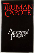 Books:First Editions, Truman Capote. Answered Prayers. London: Hamish Hamilton,[1986]. First British edition. Octavo. Publisher's binding...