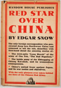 Books:First Editions, Edgar Snow. Red Star Over China. New York: Random House,[1938]. First American edition, first printing. Octavo. Pub...