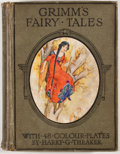 Books:Children's Books, Grimm's Fairy Tales. London: Ward, Lock, [n. d.]. Octavo.Publisher's binding. Color plates by Harry Theaker. Good....