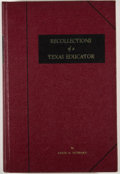 Books:Signed Editions, Louis H. Hubbard. SIGNED/LIMITED. Recollections of a Texas Educator. Salado: [Louis H. Hubbard], [1964]. First editi...
