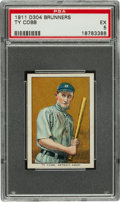 Baseball Cards:Singles (Pre-1930), 1911 D304 Brunners Butter Krust Ty Cobb PSA EX 5 - A NewlyDiscovered Example! ...