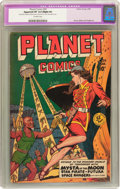 Golden Age (1938-1955):Science Fiction, Planet Comics #59 (Fiction House, 1949) CGC Apparent VF 8.0 Slight(P) Off-white pages....