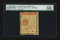 Colonial Notes:Pennsylvania, Pennsylvania March 20, 1771 20s PMG About Uncirculated 53 EPQ.. ...