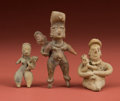 American Indian Art:Pottery, Lot of Three Pre-Classic Maternity Figures... (Total: 3 Items)