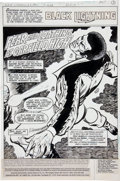 Original Comic Art:Splash Pages, Trevor Von Eeden and Vince Colletta Black Lightning #9Splash page 1 Original Art (DC, 1978)....