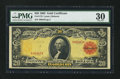 Large Size:Gold Certificates, Fr. 1179 $20 1905 Gold Certificate PMG Very Fine 30.. ...