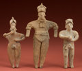 American Indian Art:Pottery, Lot of Three Colima Flats... (Total: 3 Items)