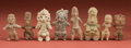 American Indian Art:Pottery, Collection of Eight Pre-Classic Figurines... (Total: 8 Items)