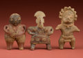 American Indian Art:Pottery, Three Nicer Small Figurines... (Total: 3 Items)