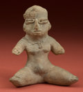 American Indian Art:Pottery, Seated Olmecoid Woman...