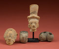 American Indian Art:Pottery, Four Miscellaneous Pieces... (Total: 4 Items)