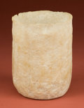American Indian Art:Pottery, Mayan Alabaster Ribbed Ceremonial Vase...