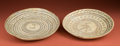 American Indian Art:Pottery, Two Large Huastec Offering Plates... (Total: 2 Items)