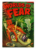 Golden Age (1938-1955):Horror, Worlds of Fear #9 (Fawcett, 1953) Condition: VG....