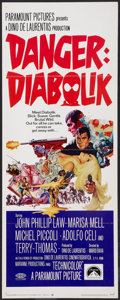 "Movie Posters:Crime, Danger: Diabolik (Paramount, 1968). Insert (14"" X 36""). Crime.. ..."