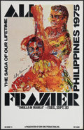 "Movie Posters:Sports, Ali vs. Frazier, The ""Thrilla in Manila"" by LeRoy Neiman (Don King Productions, 1975). Closed Circuit Showing Window Card (1..."