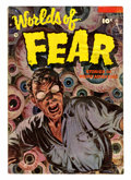 Golden Age (1938-1955):Horror, Worlds of Fear #10 (Fawcett, 1953) Condition: GD/VG....