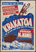 "Movie Posters:Documentary, Krakatoa (Mohawk, R-1930s). One Sheet (28"" X 41""). Documentary.. ..."