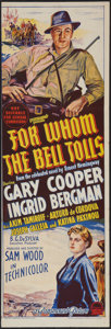 """Movie Posters:Drama, For Whom the Bell Tolls (Paramount, 1943). Australian Daybill (10.5"""" X 30""""). Drama.. ..."""