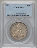 Seated Half Dollars: , 1891 50C XF45 PCGS. PCGS Population (10/178). NGC Census: (1/135).Mintage: 200,000. Numismedia Wsl. Price for problem free...