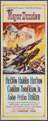 "Major Dundee (Columbia, 1965). Insert (14"" X 36""). Western"