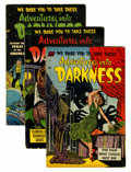 Golden Age (1938-1955):Horror, Adventures Into Darkness #9, 10, and 13 Group (Standard, 1953-54)Condition: Average VG.... (Total: 3 Comic Books)