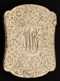 Silver Smalls:Match Safes, A GORHAM GOLD MATCH SAFE . Gorham Corporation, Providence, RhodeIsland, circa 1900. Marks: (anchor), 14K, X386, PATENT AP...