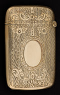 Silver Smalls:Match Safes, A GORHAM SPECIAL ORDER GOLD MATCH SAFE . Gorham Manufacturing Co.,Providence, Rhode Island, circa 1900. Marks: (lion over a...