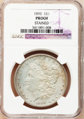 Proof Morgan Dollars, 1890 $1 -- Stained -- NGC Details. Proof....