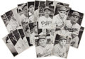 Baseball Cards:Sets, 1941 Brooklyn Dodgers Picture Pack Complete Set (25) With Reese Rookie! ...