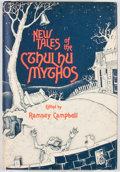 Books:First Editions, Ramsey Campbell [editor]. New Tales of the Cthulhu Mythos.[Sauk City]: Arkham House, 1980. First edition. Octavo. P...