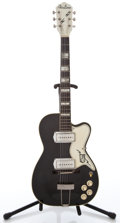 Musical Instruments:Electric Guitars, 1960s Airline Barney Kessel Black Semi-Hollow Body Electric Guitar #N/A...