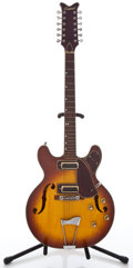 Musical Instruments:Electric Guitars, 1960s Conrad Project Sunburst Semi-Hollow Body Electric 12-StringGuitar ...