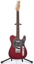Musical Instruments:Electric Guitars, 1996 Fender Deluxe Telecaster Trans Red Metallic Solid BodyElectric Guitar #N6109910...