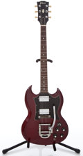 Musical Instruments:Electric Guitars, 1970's Sekova SG Cherry Solid Body Electric Guitar #26...