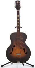 Musical Instruments:Acoustic Guitars, Circa 1950's New Yorker in project-grade condition. This one willneed major restoration. Has significant center seam separati...