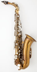 Musical Instruments:Horns & Wind Instruments, 1939 Martin Committee II Low Pitch Brass Alto Saxophone #131766...