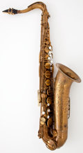 Musical Instruments:Horns & Wind Instruments, 1947 The Martin Tenor Brass Tenor Saxophone #158651...
