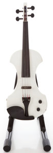Musical Instruments:Violins & Orchestra, Recent Fender Electric White Violin #KD04030081...