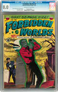 Golden Age (1938-1955):Horror, Forbidden Worlds #4 (ACG, 1952) CGC VF 8.0 Off-white to whitepages....