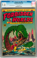 Golden Age (1938-1955):Horror, Forbidden Worlds #5 (ACG, 1952) CGC VF- 7.5 Off-white to whitepages....