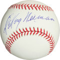 Autographs:Baseballs, LeRoy Neiman Single Signed Baseball. ...