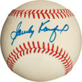 Autographs:Baseballs, Sandy Koufax Single Signed Baseball (Feeney Baseball)....