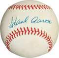 Autographs:Baseballs, Hank Aaron Single Signed Baseball (Giamatti Ball)....