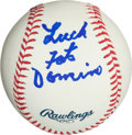 Autographs:Baseballs, Fats Domino Single Signed Baseball....